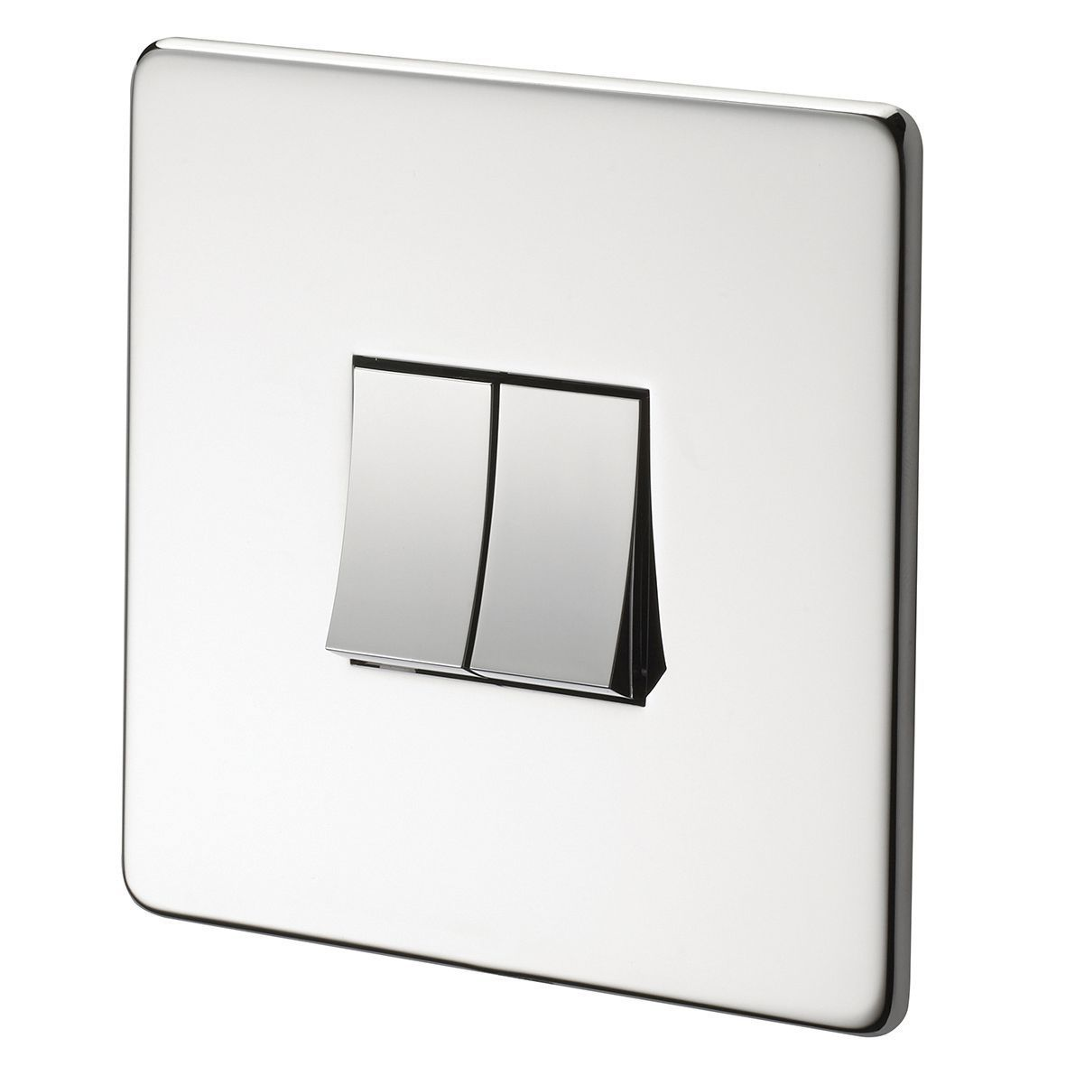 Crabtree 10a 2 Way Polished Chrome Light Switch