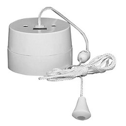 Crabtree 16A 1-Way White Ceiling Pull Switch