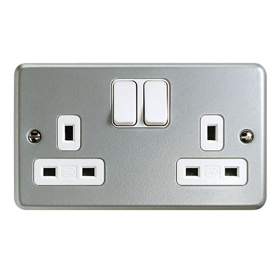MK 13A Metal-Clad Switched Double Socket			MK 13A Metal-Clad Switched Double Socket