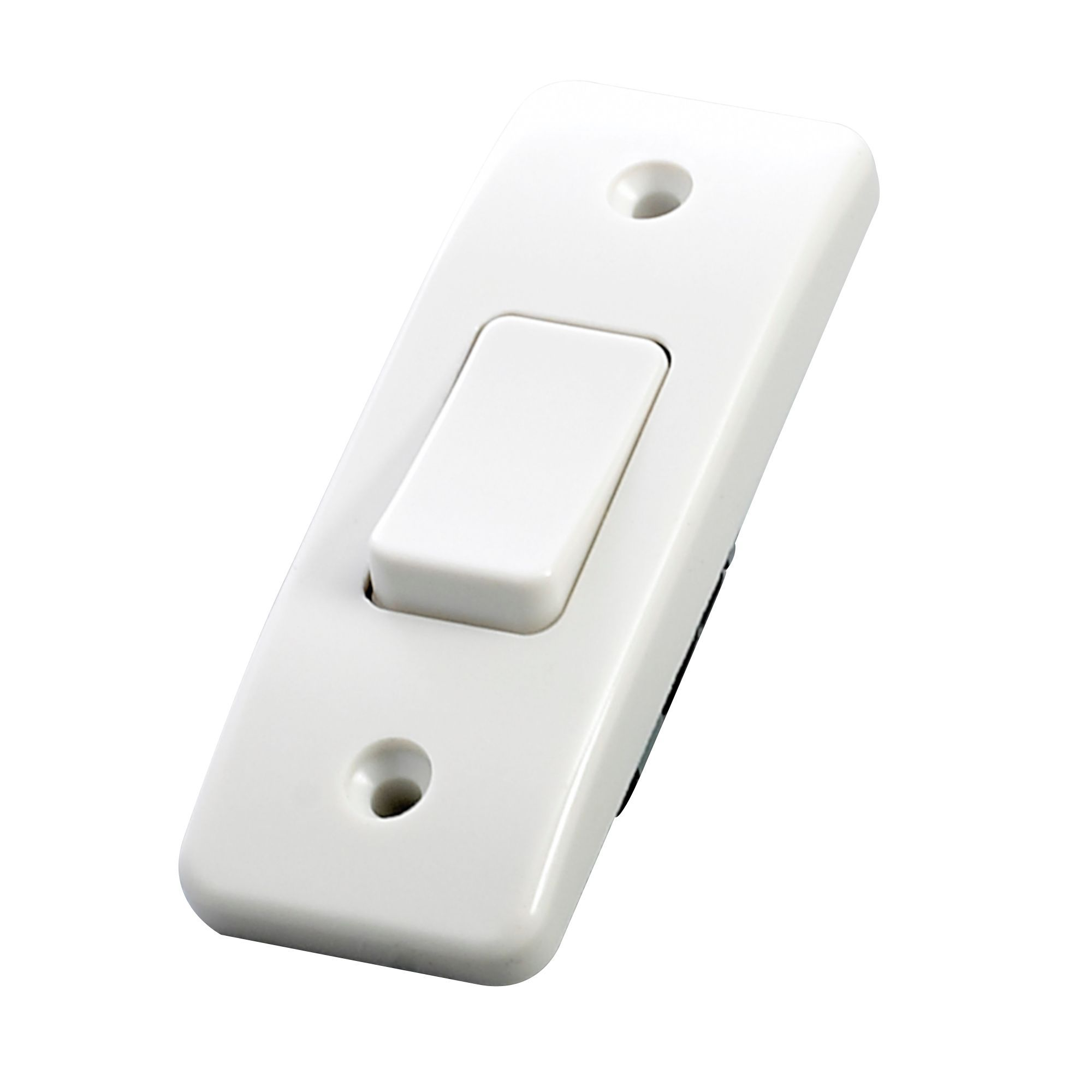 Mk 10a 2 Way Single White Gloss Architrave Light Switch