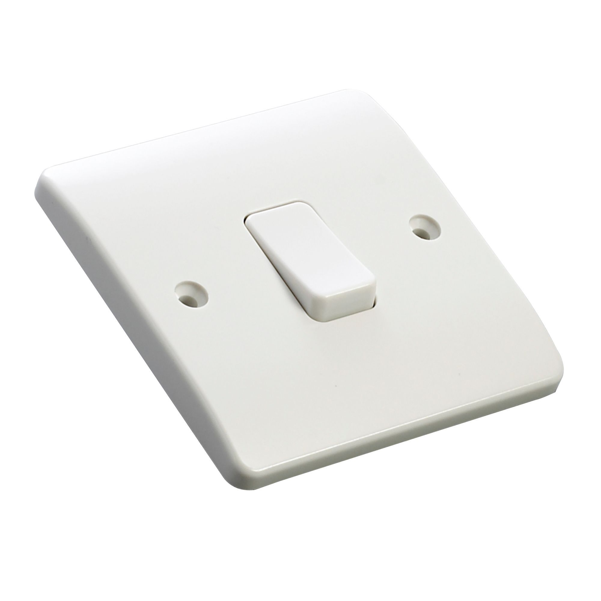 MK 10A 2-Way Single White Gloss Intermediate Switch | Departments ...