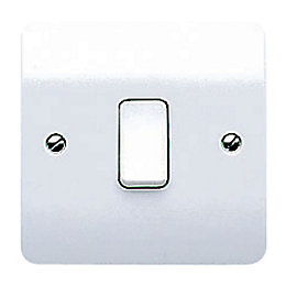 MK 10A 2-Way Single White Gloss Intermediate Switch