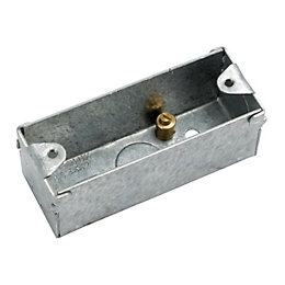 MK 27mm Steel Single Pattress Box