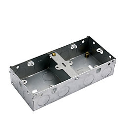 MK 40mm Steel Double Pattress Box