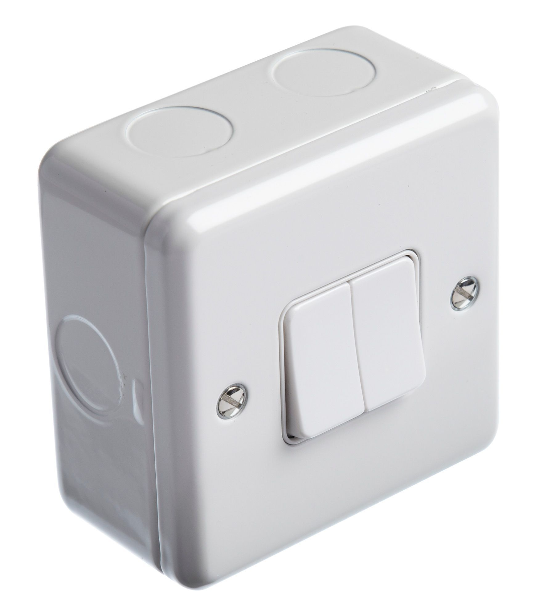 MK 13A 2-Way Double White Light Switch with Box | Departments ...