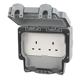 MK 13A Grey Unswitched Socket