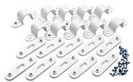 MK White Bar saddle (Dia)20mm, Pack of 10