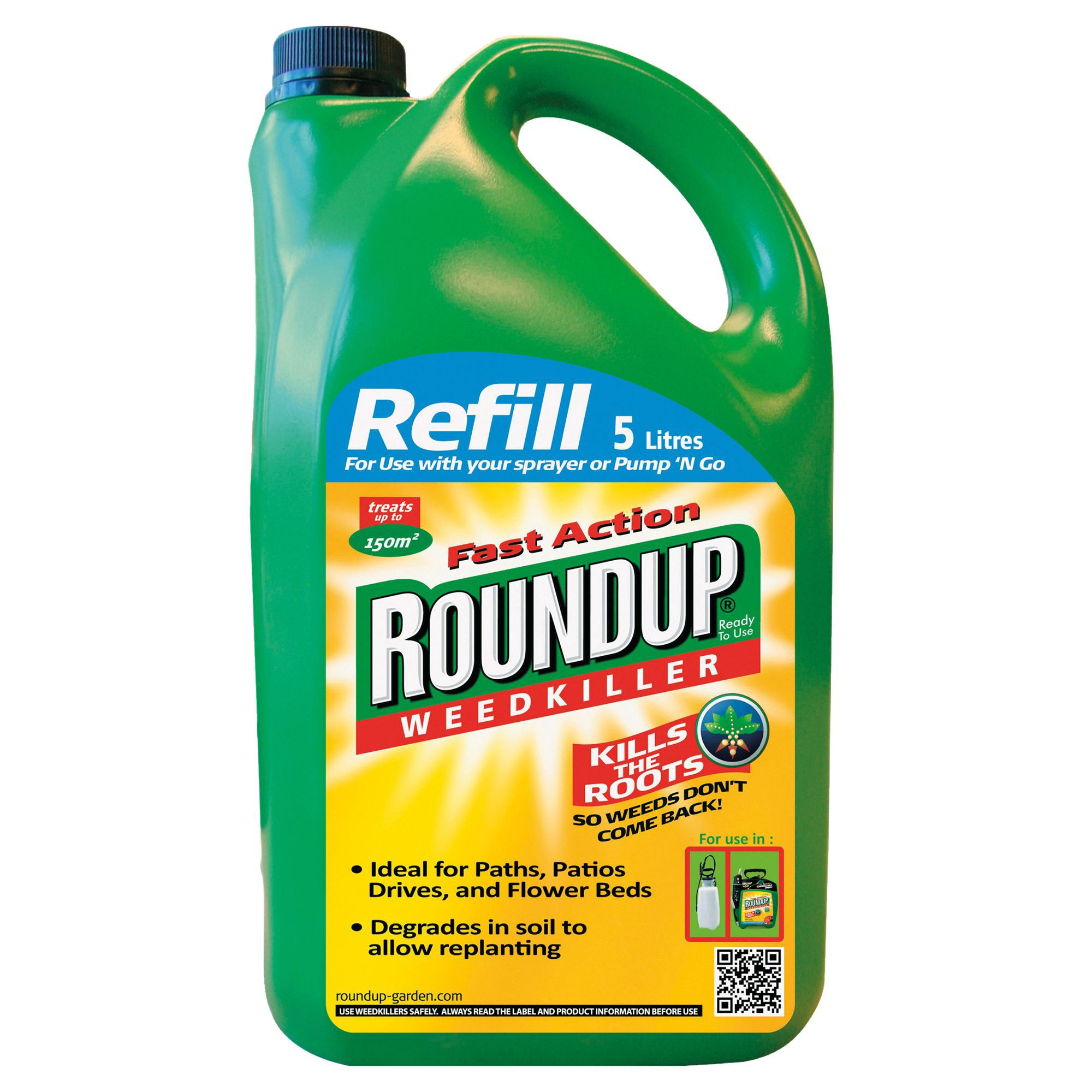roundup fast action refill weed killer 5l departments diy at b q. Black Bedroom Furniture Sets. Home Design Ideas