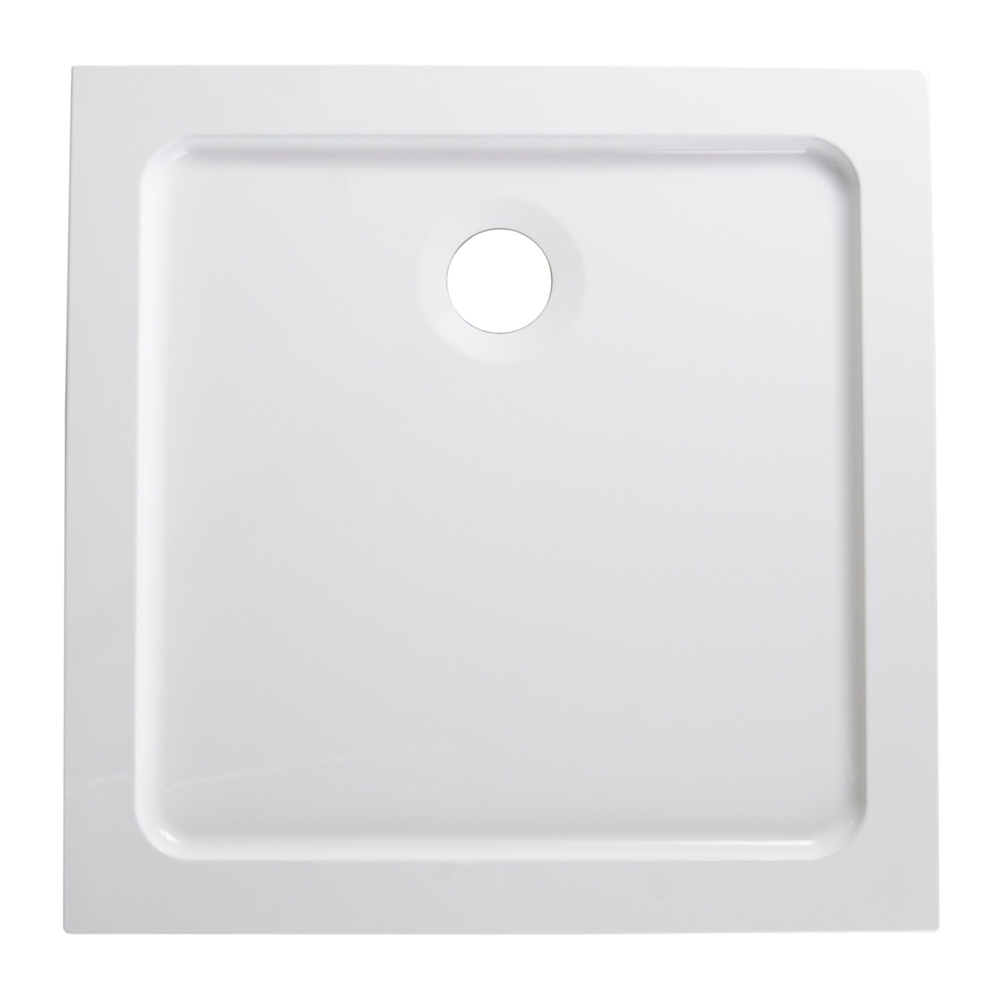 B Amp Q Low Profile Square Shower Tray L 760mm W 760mm D
