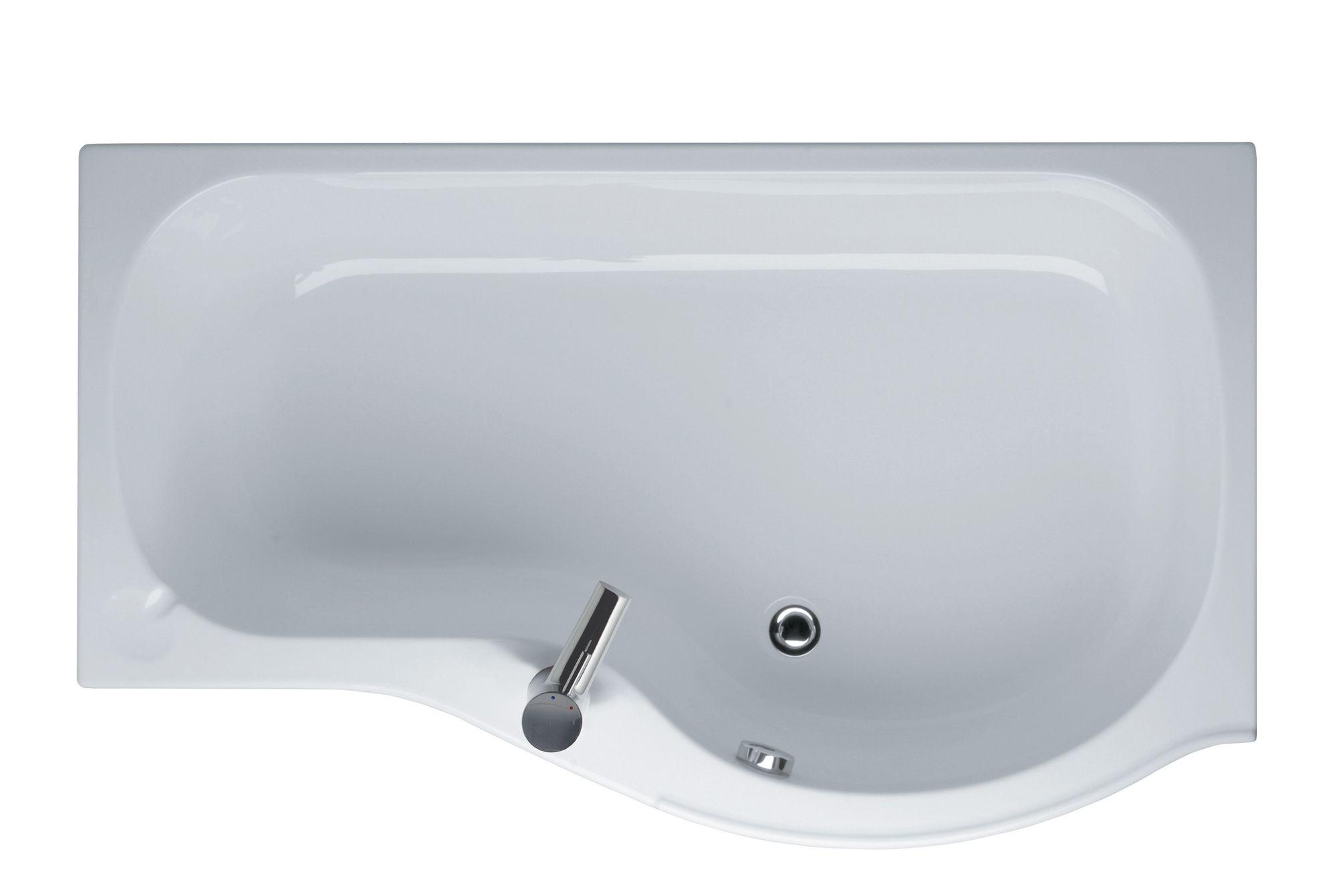 Ideal Standard Space Rh Acrylic P Shaped Shower Bath L