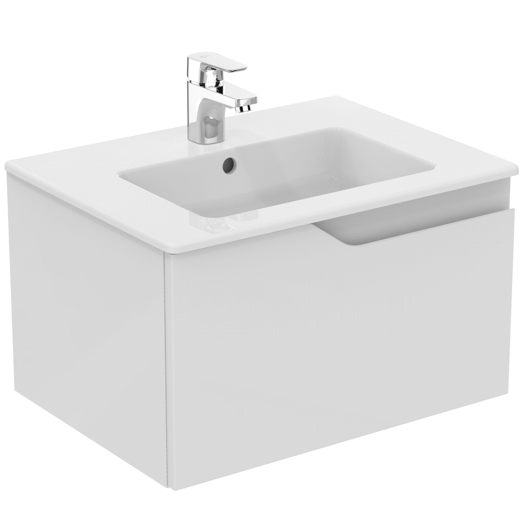Ideal Standard Imagine Gloss White Vanity Unit, Basin & Mixer Pack ...