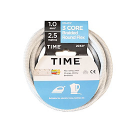 Time 3 Core Braided Flexible Cable 1.0mm² 2043Y