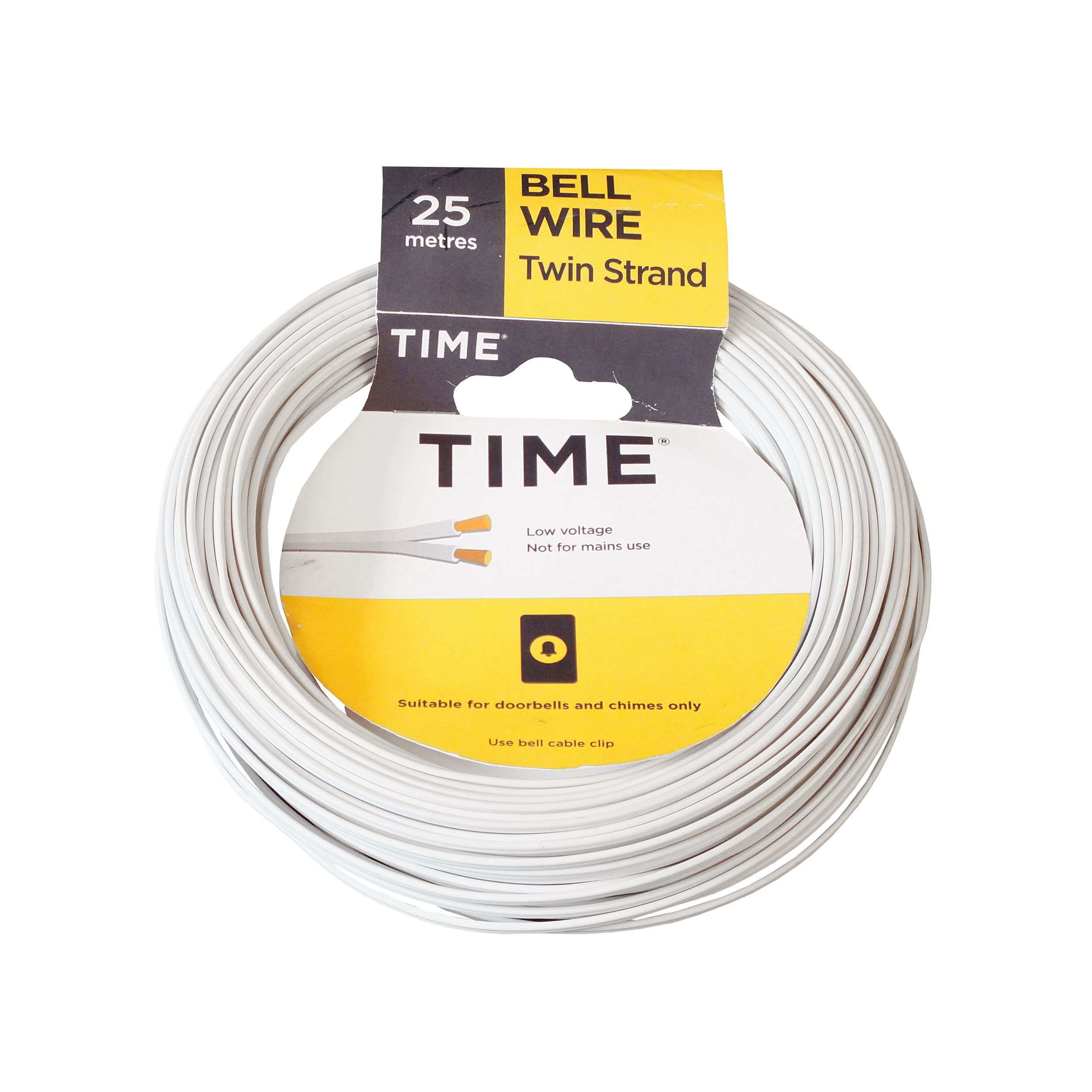Time Core Bell Wire White 25 M Departments Diy At Bq How To A Shed For Electricity