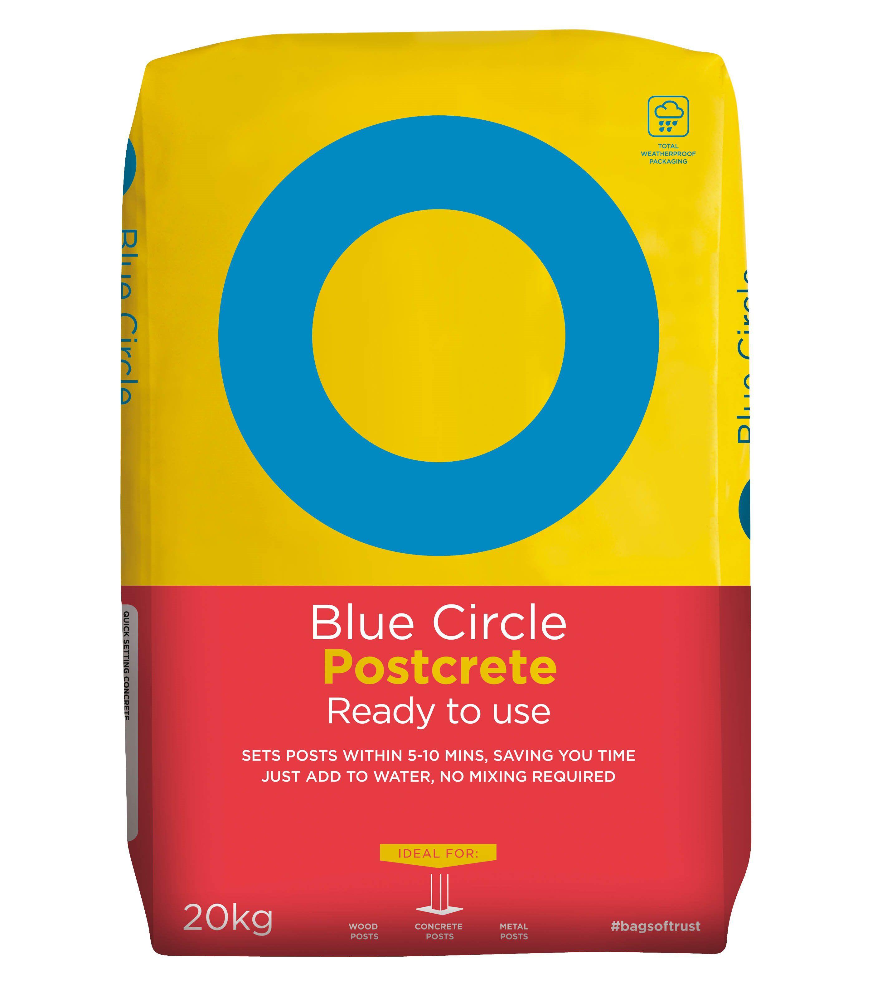 Blue Circle Postcrete Ready To Use Concrete 20kg Bag