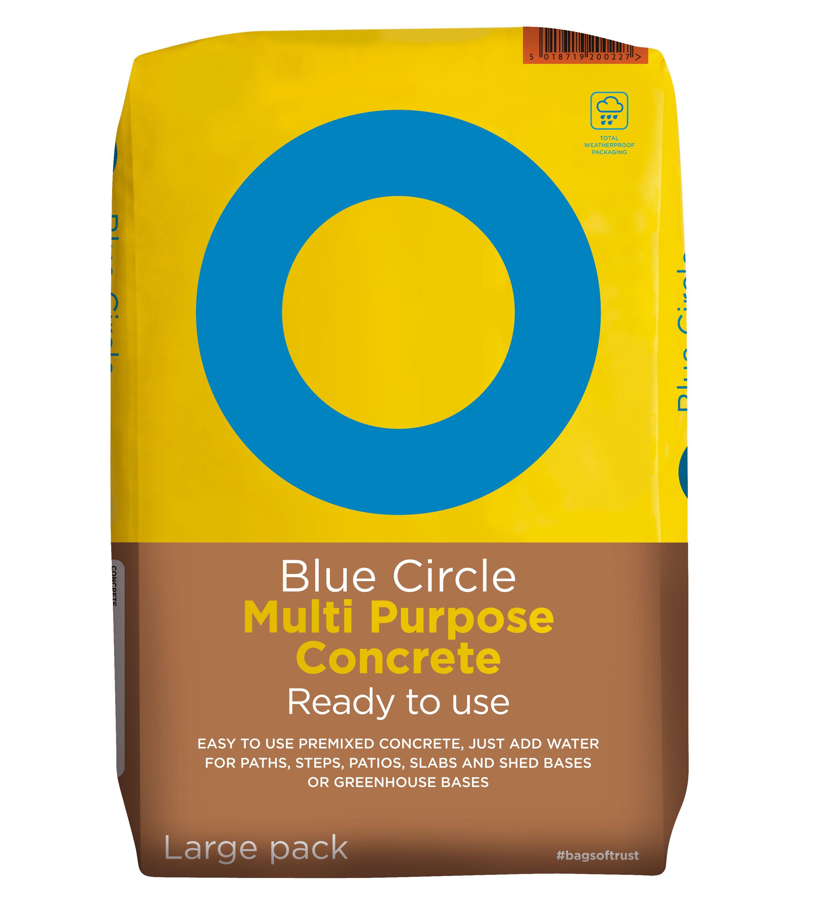 Blue Circle Multi Purpose Ready To Use Concrete 20kg Bag Departments Diy At B Amp Q