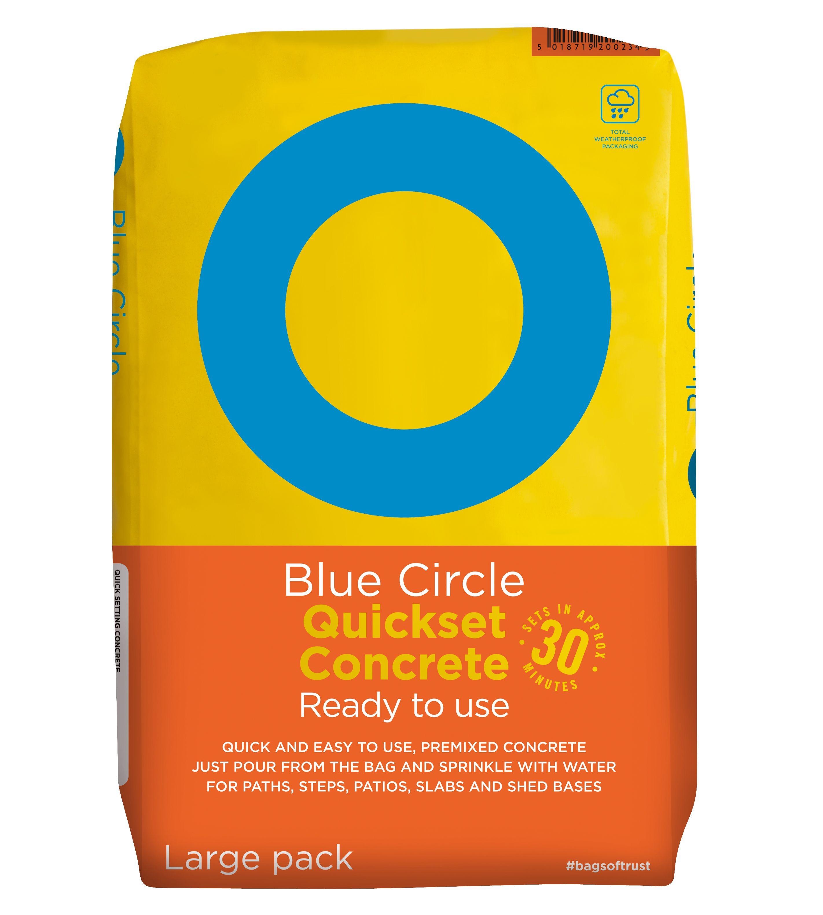 Blue Circle Quick set Ready to use Concrete 20kg Bag | Departments | DIY at  B&Q