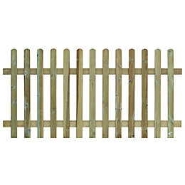 Grange Round top Vertical slat Fence panel (W)1.8