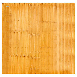 Grange Feather edge Overlap Vertical slat Fence panel