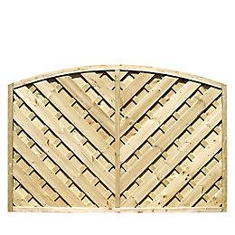 Grange St Lunair Arched V shape grooved slat