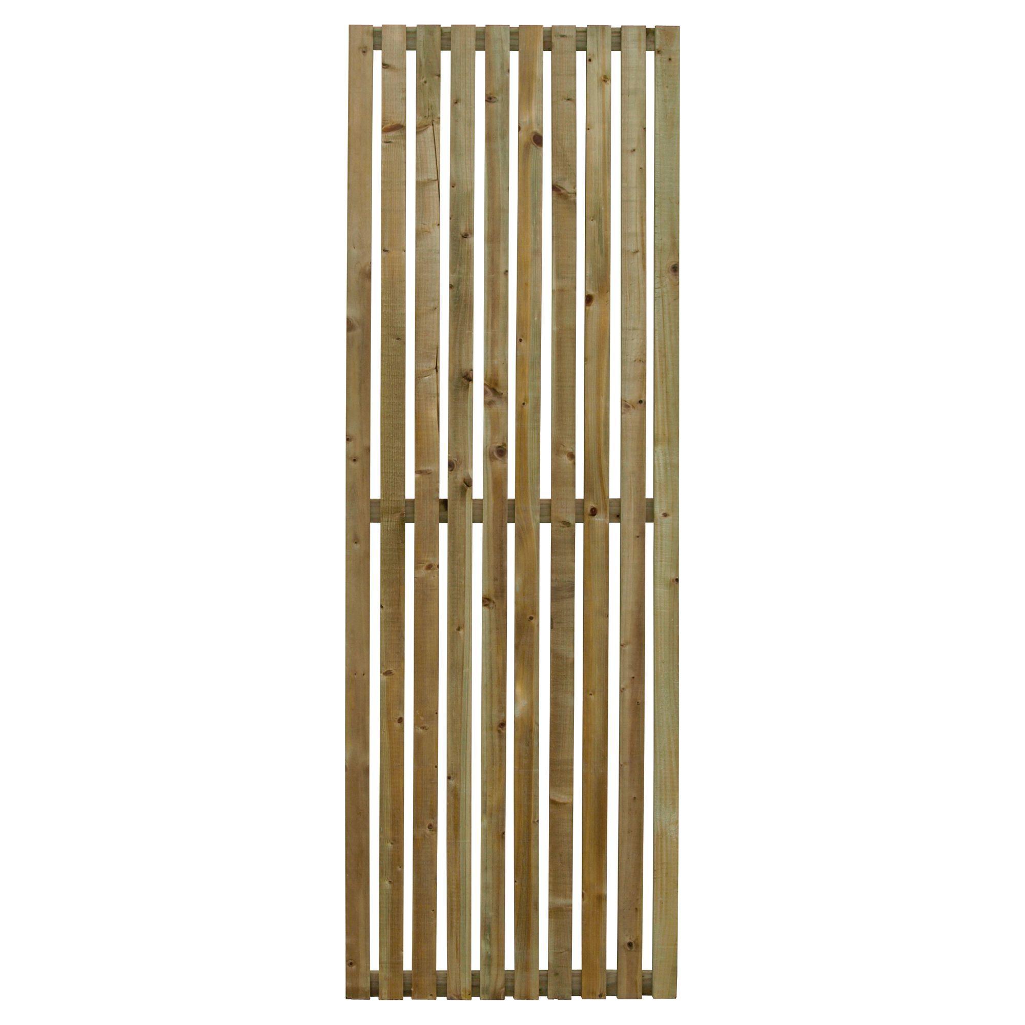 Linear Timber Garden Screen H 1 8 M W 0 6 M Of 3