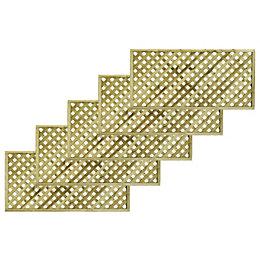 Woodbury Timber Square Trellis panel (H)1.8m(W)0.9 m, Pack