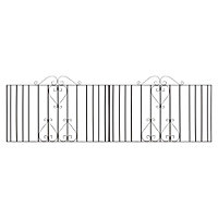 Metpost Metal Scroll top Gate (H)0.95m (W)1.13 m