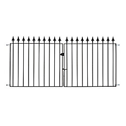 Metpost Metal Spear top Gate (H)0.94m (W)9.75 m