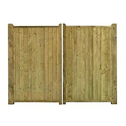 Grange Planed timber Driveway Gate (H)1.8m (W)3 m