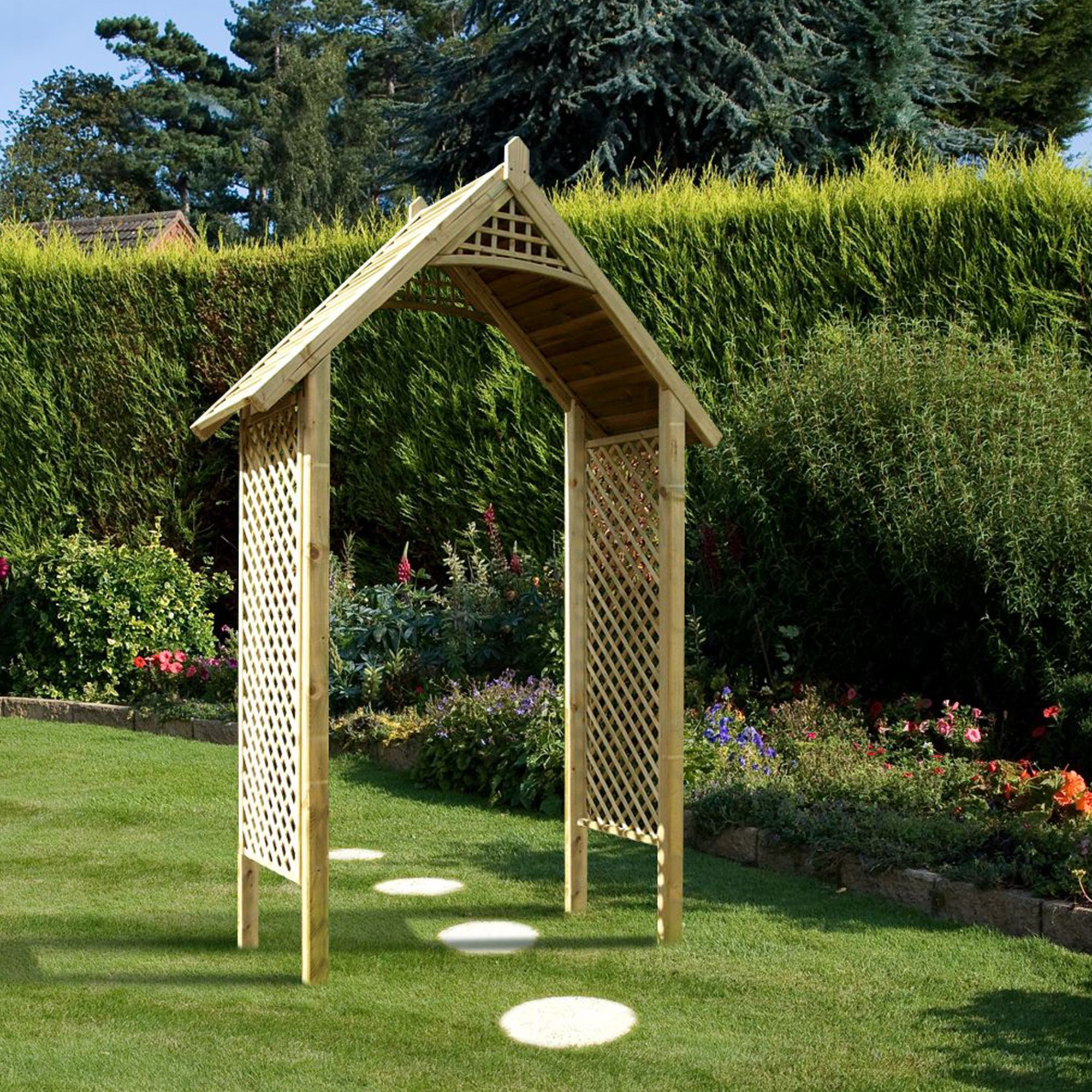 Grange Softwood Lattice Arch