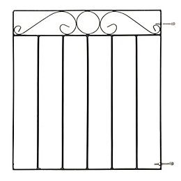 Blooma Metal Swirl top Gate (H)0.85m (W)0.77 m
