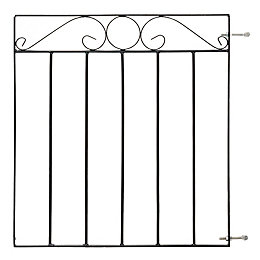 Blooma Metal Swirl top Gate (H)0.85m (W)0.81 m