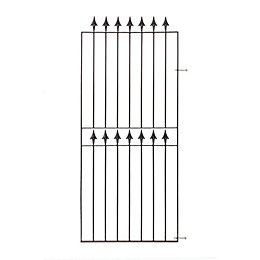 Blooma Metal Spear top Gate (H)1.83m (W)0.81 m