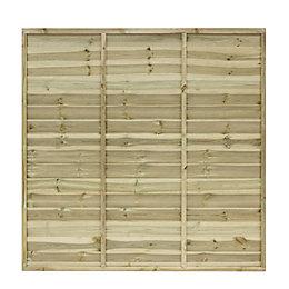 Grange Primo Overlap Horizontal slat Fence panel (W)1.83