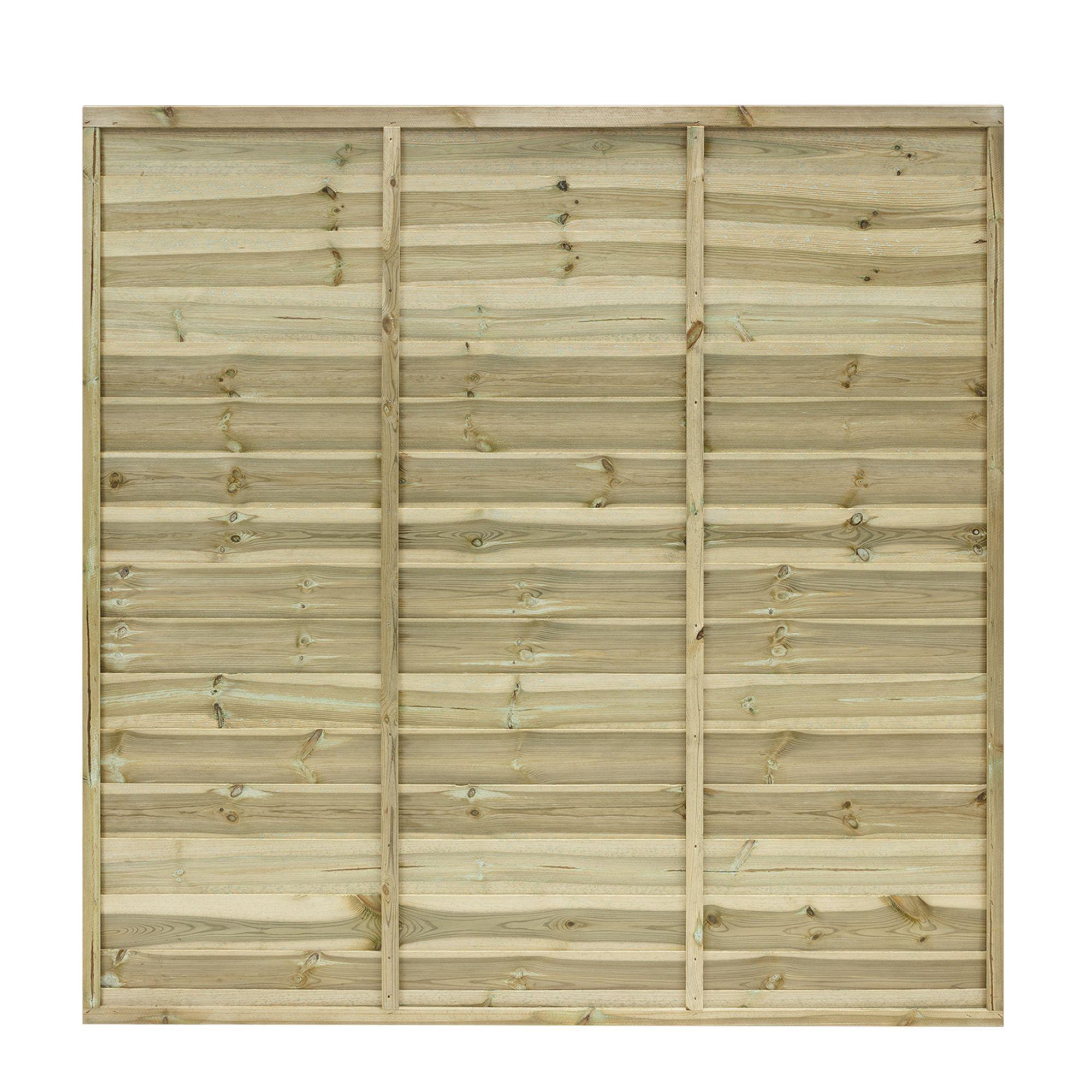 Horizontal Fence Diy: Grange Primo Overlap Horizontal Slat Fence Panel (W)1.83 M