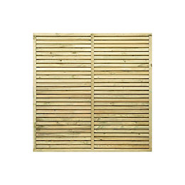 Grange Contemporary Fence panel (W)1.8 m (H)1.2m, Pack
