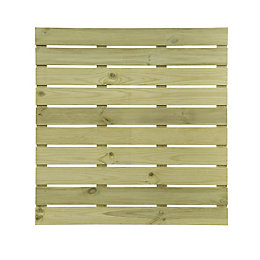 Natural Softwood Deck tile (T)28mm (W)1000mm (L)1000mm
