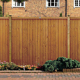 Grange Closeboard Vertical slat Fence panel (W)1.83 m