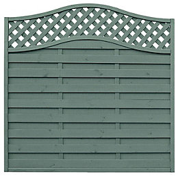 Grange Woodberry Horizontal slat Fence panel (W)1.8 m