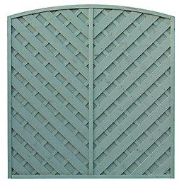 Grange St Lunair Diagonal slat Fence panel (W)1.8