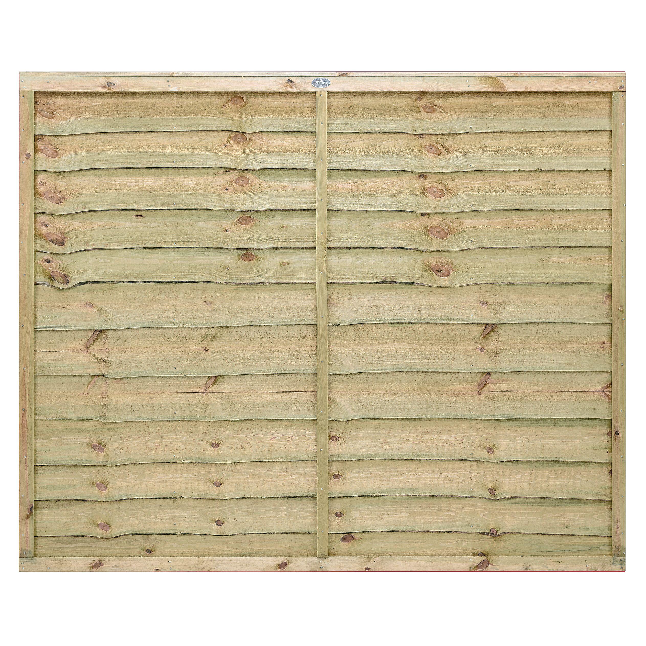 Horizontal Fence Diy: Grange Pro Lap Horizontal Waney Edge Slat Fence Panel (W)1