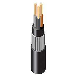 Prysmian 3 core Armoured cable 2.5 mm² Black