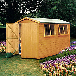 10X8 Atlas Apex Shiplap Wooden Shed