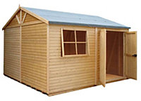 10x10 Mammoth Loglap Wooden Workshop