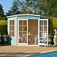 7x7 Hampton Shiplap Summerhouse with toughened glass With assembly service