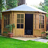 10x10 Belvoir 28mm Tongue & Groove Log cabin with felt roof tiles With assembly service