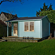 14x17 Twyford 44mm Tongue & Groove Log cabin with felt roof tiles