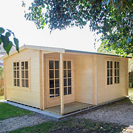 16x17 Twyford 44mm Tongue & Groove Log cabin