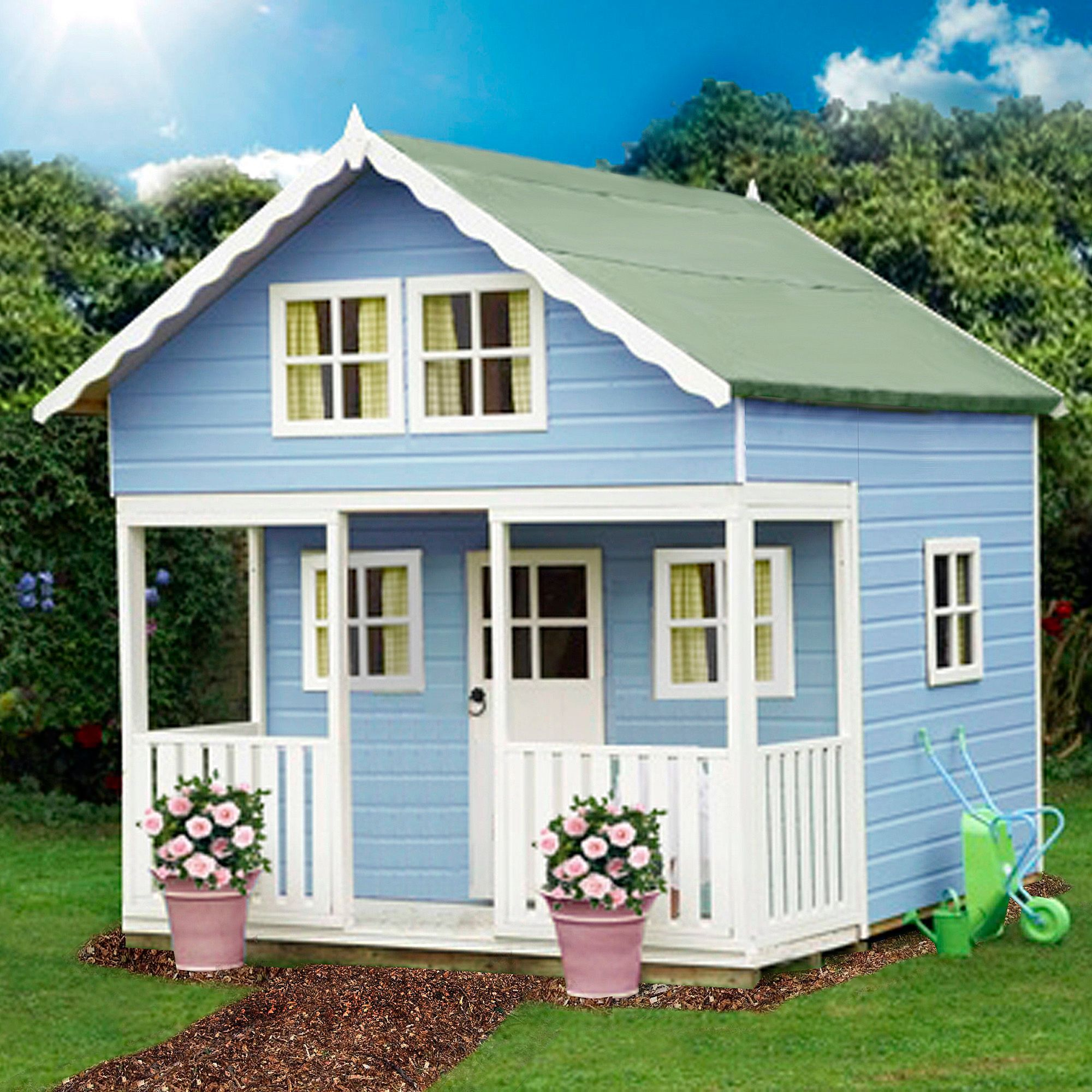 8x9 Lodge Playhouse With Assembly Service Departments