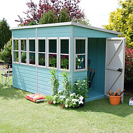 10X6 Sun Shiplap Timber Summerhouse with Assembly Service