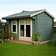 10x14 Marlborough 28mm Tongue & Groove Log cabin